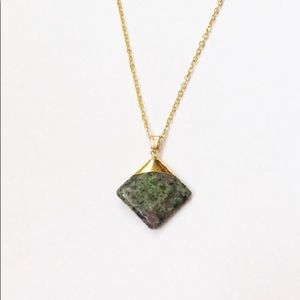 Jewelry - Ruby zoisite gemstone pendant necklace